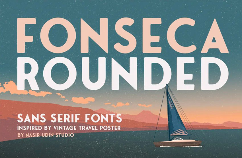 Fonseca Bold Rounded Fonts