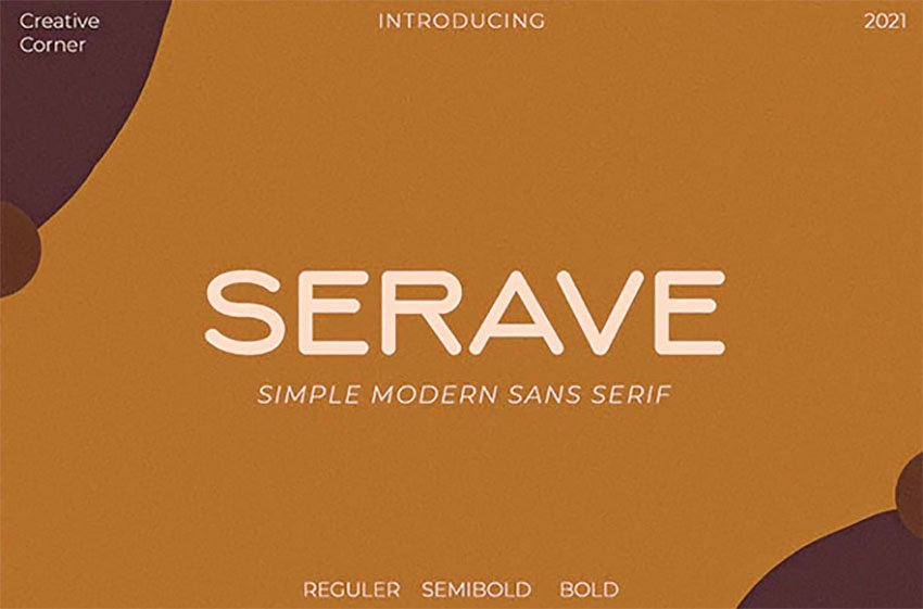 Serave Rounded Typeface