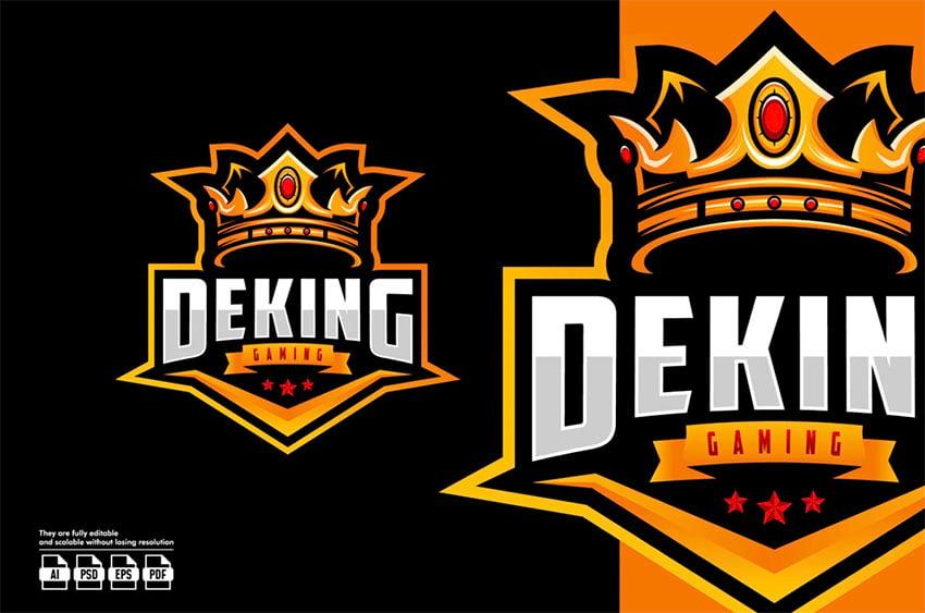 DeKing Gold Crown Logo