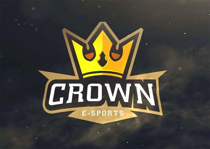 E-Sports Gold Crown Logo