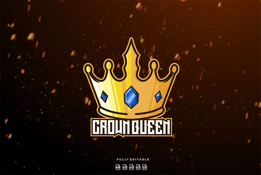 Logo with Tall Gold Crown