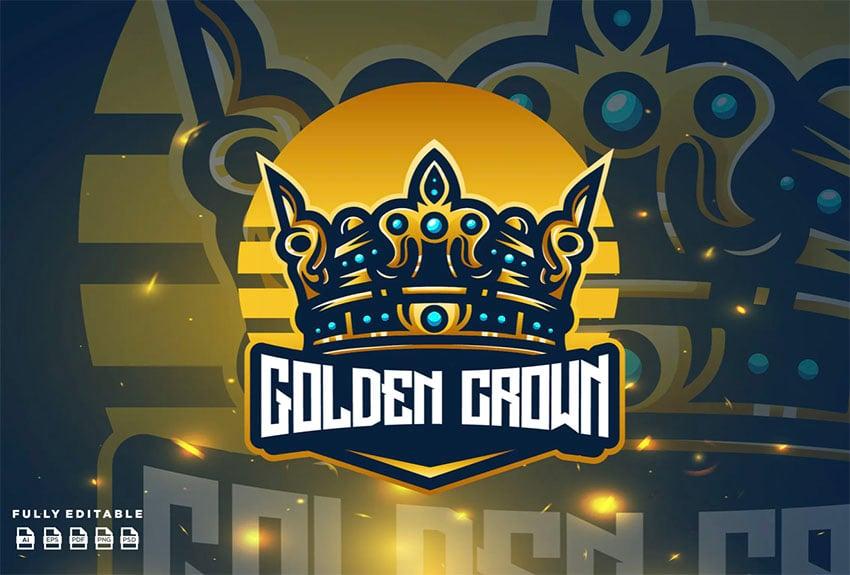 Fashion Logo Gold Crown