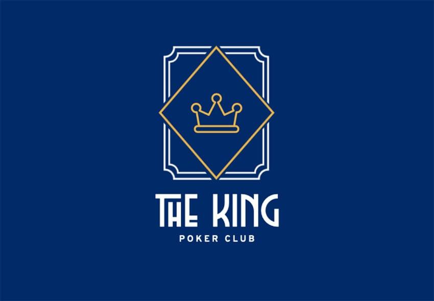 The King Gold Logo Design