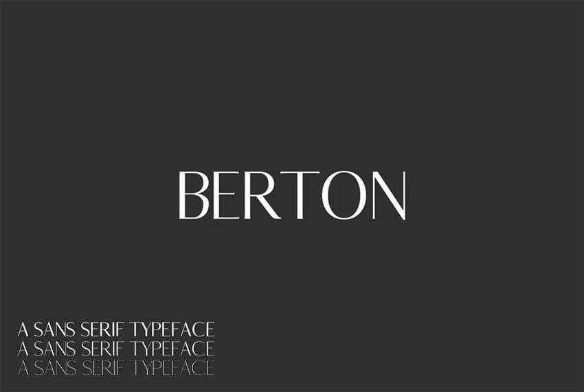 Berton Sans Serif Font Family Pack