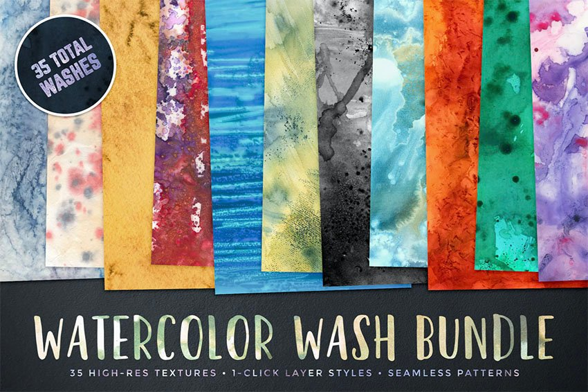 Adobe Ilustrator Watercolor Backgrounds