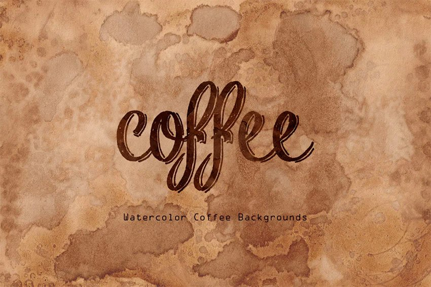 Coffee Watercolor Backgrounds