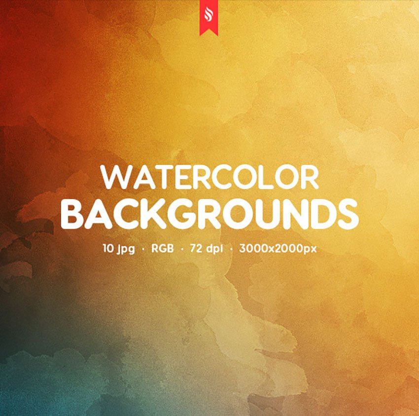 Warm Watercolor Backgrounds