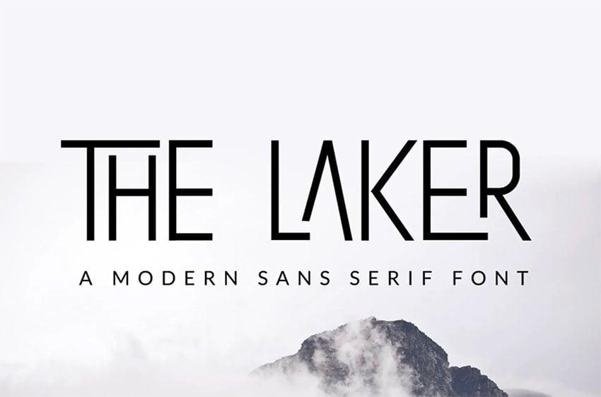 The Laker Thin Sans Serif Font