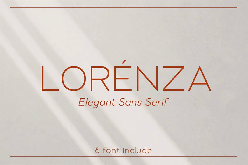 Lorenza Thin Sans Serif Font