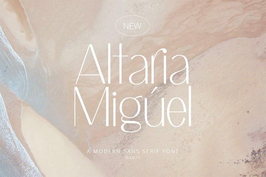 Altaria Clean Sans Serif Font