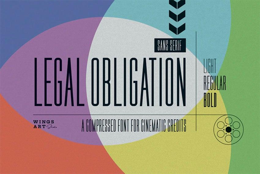 Legal Obligation Narrow Font Thin Sans Serif