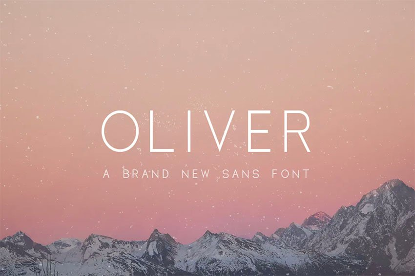 Oliver Thin Straight Font