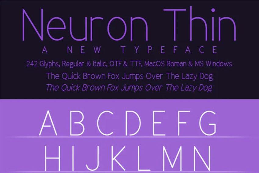 Neuron Narrow Font San Serif