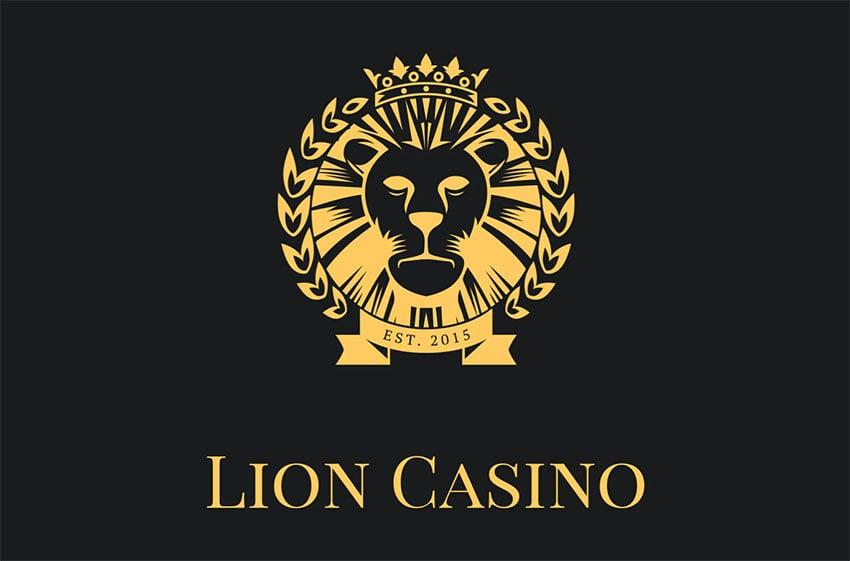 Lion Casino Black and Gold Logo Creator