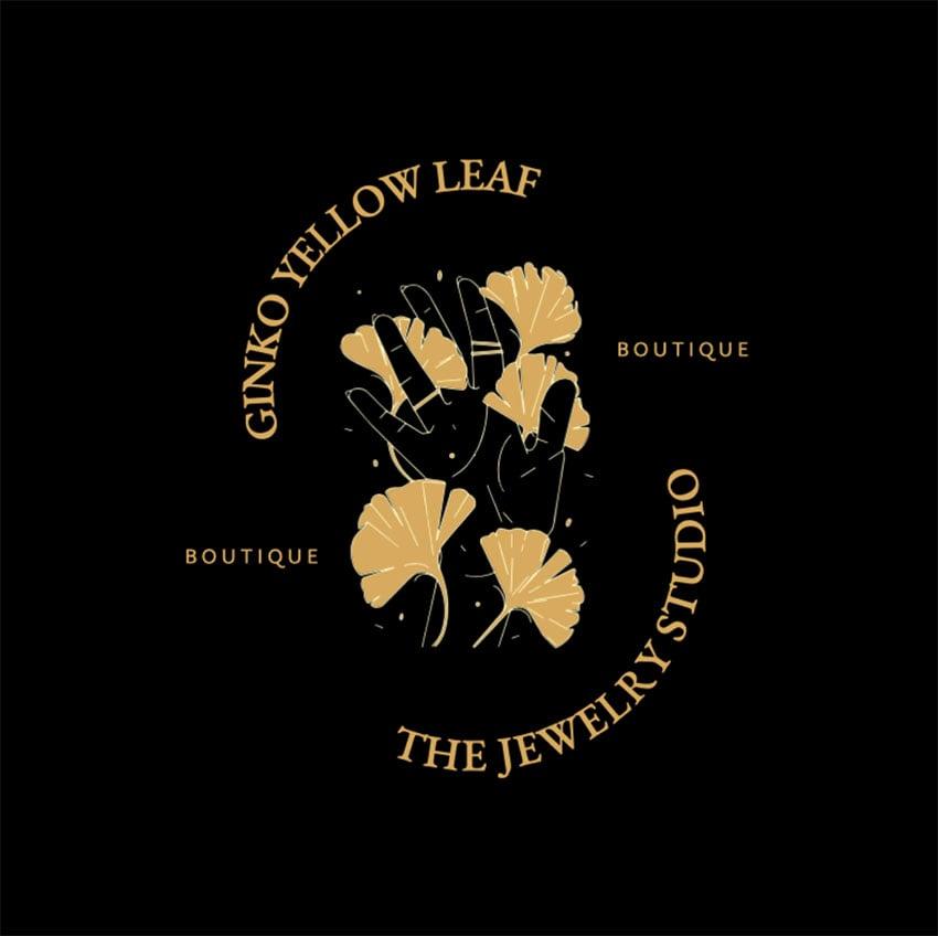 Golden Logo Design PNG