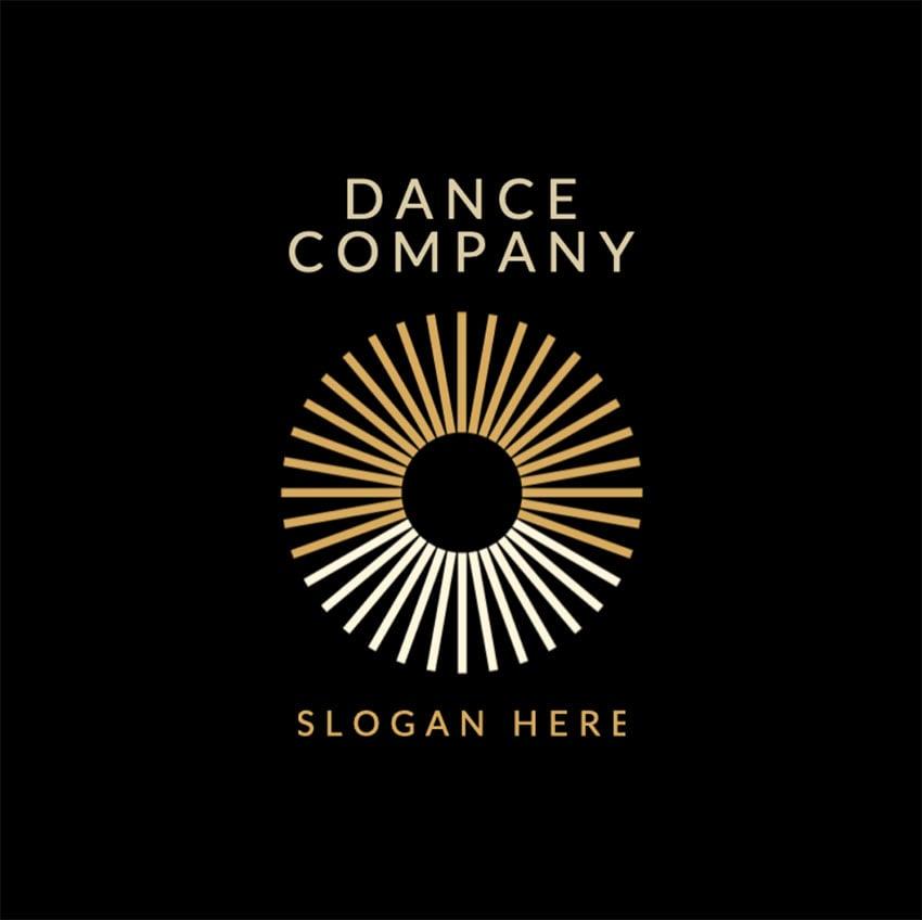 Dance CompanyGoldenLogo Design PNG