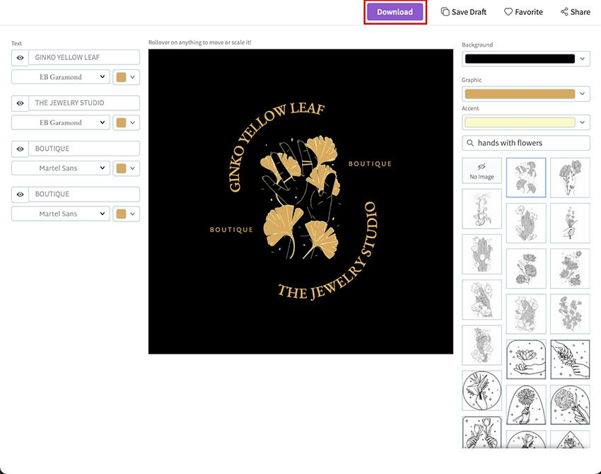 STEP 5: Download Your Logo
