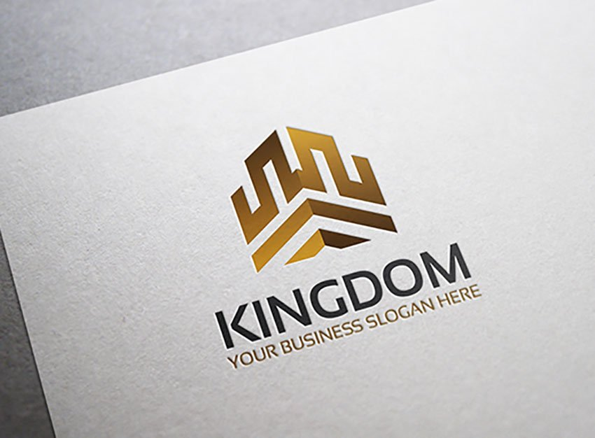 Black White and Gold Logo Template