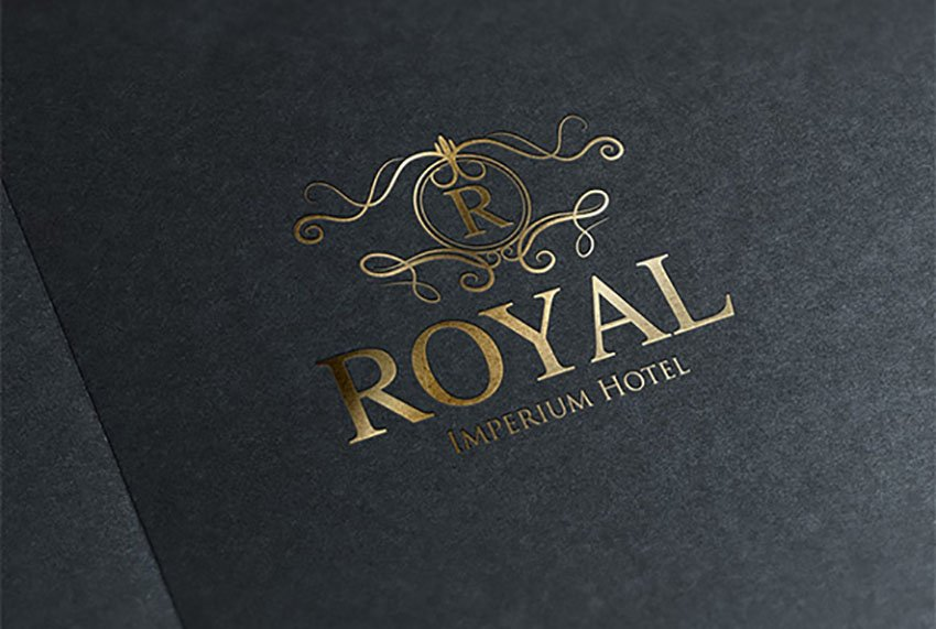Royal All Gold Logo Template