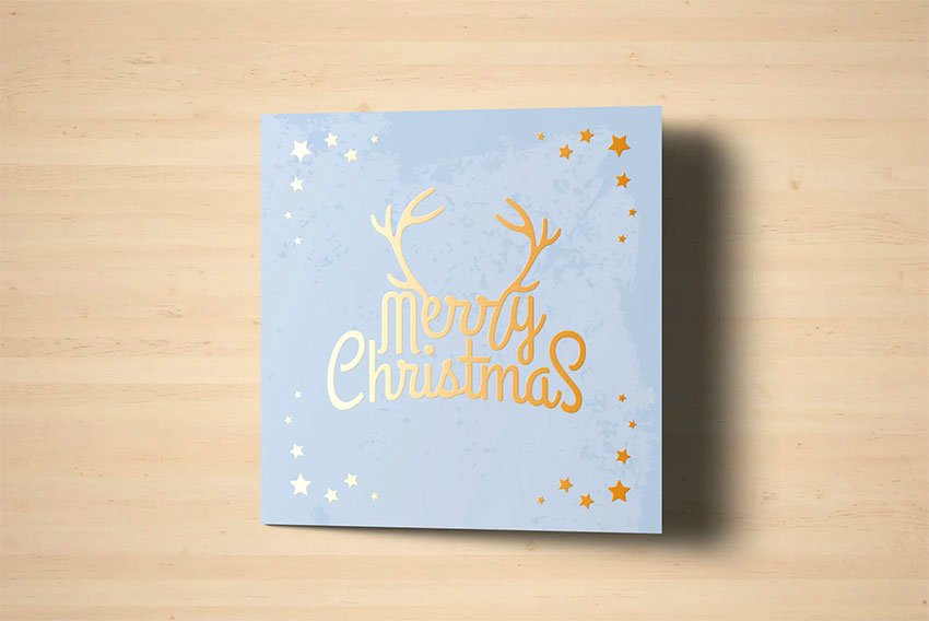 Square Foil Stamping Card
