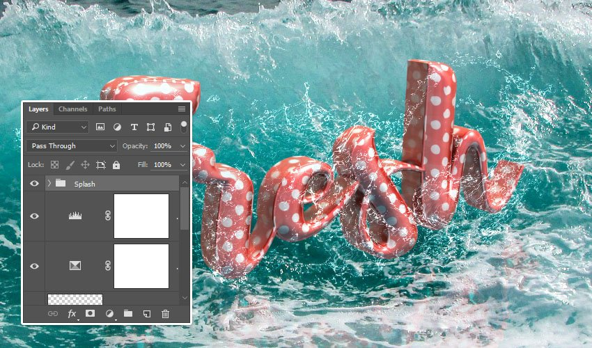 Add Style and Group the Splash Images