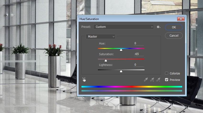Environment Texture HueSaturation