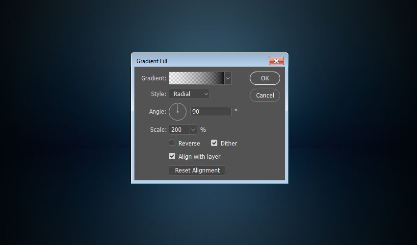 The Gradient Fill Settings