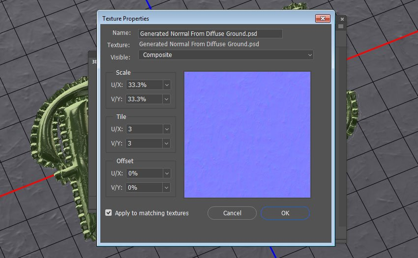 Adjust the UV Properties