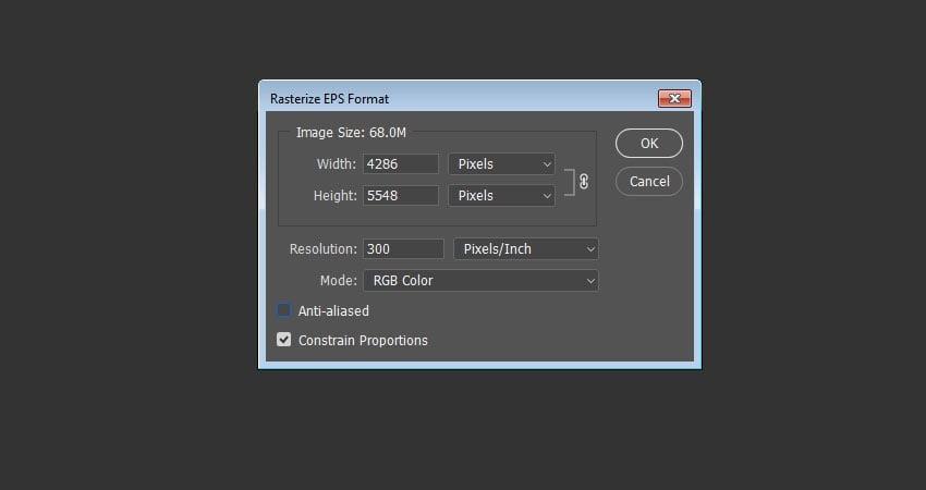 Rasterize EPS Format