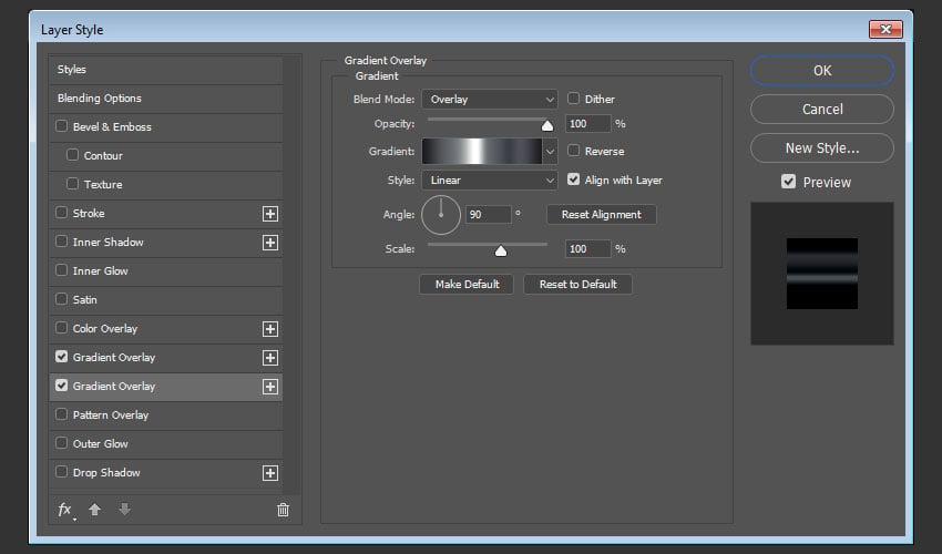 Add a Gradient Overlay 2