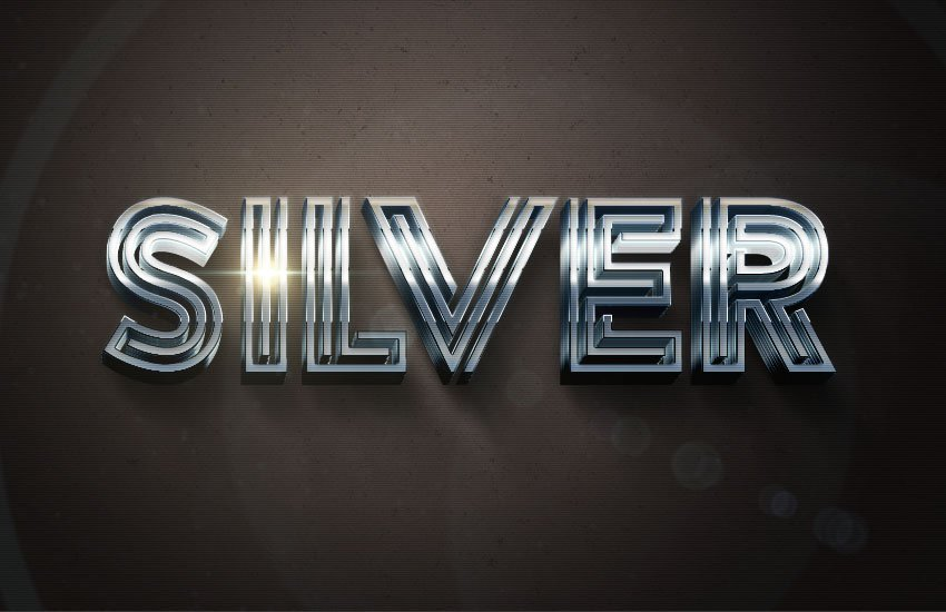 80s Silver Text Effect Adobe Photoshop Tutorial
