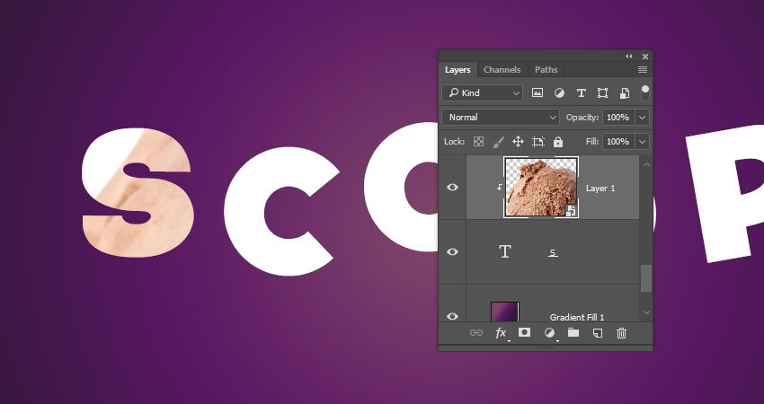 Add the Scoop Image to the Letter