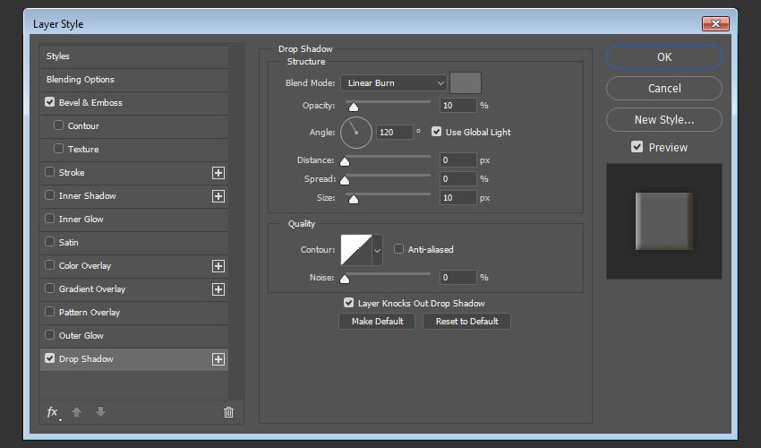Drop Shadow layer style