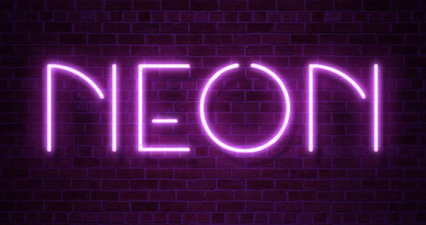 Neon Layer Style Text Effect