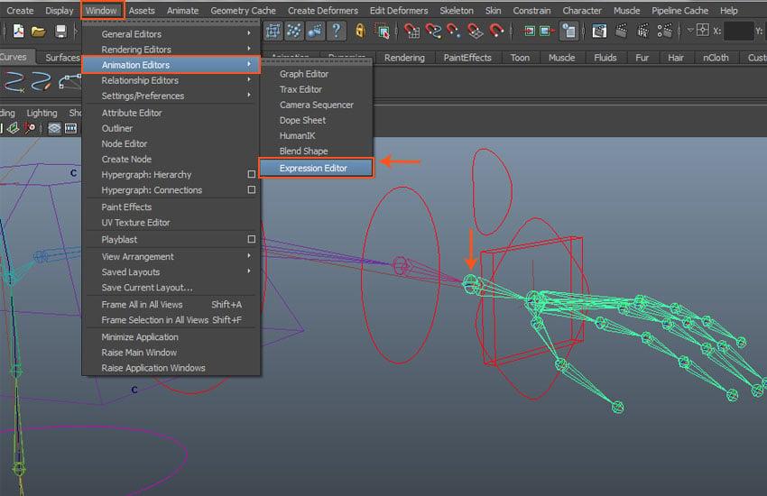 Window  Animation Editors  Expression Editor