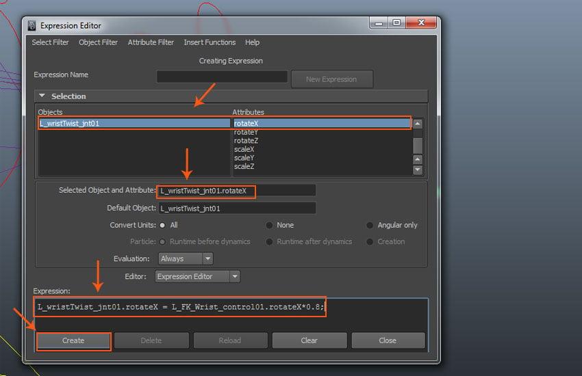 Expression Editor window
