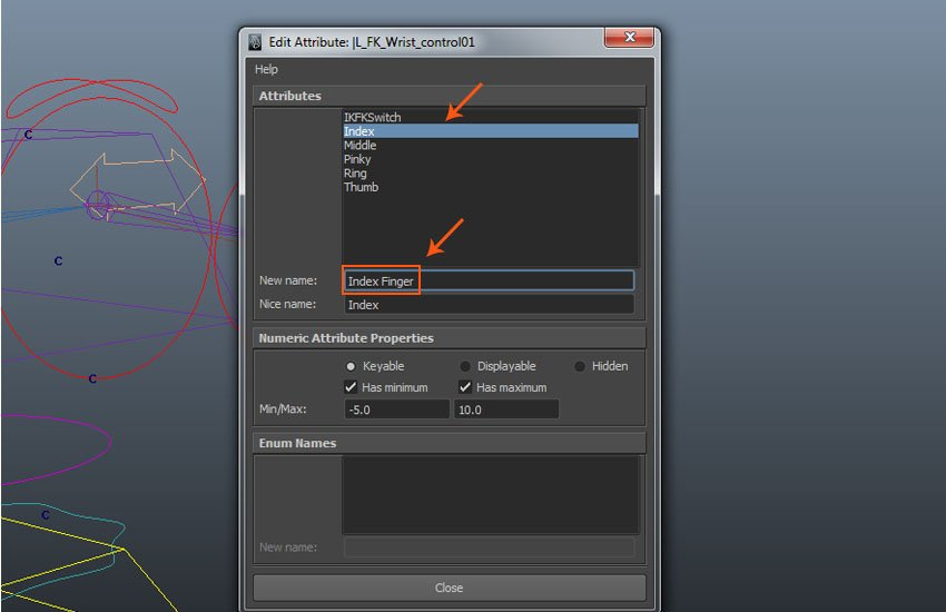 Index custom attribute