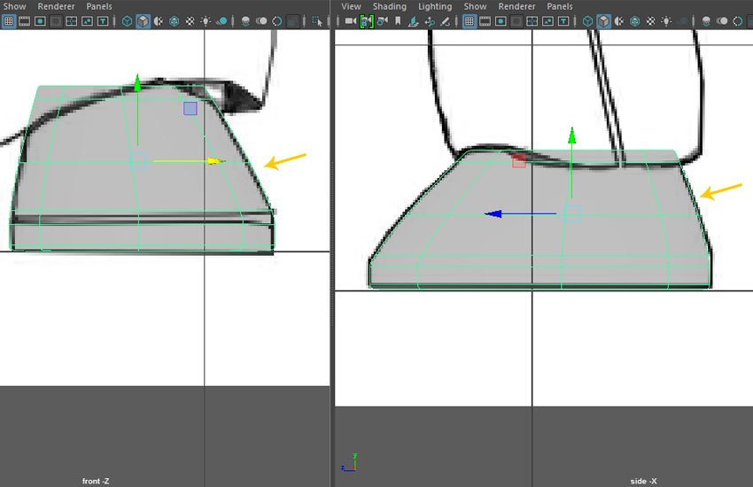 Editing and modifying the vertices