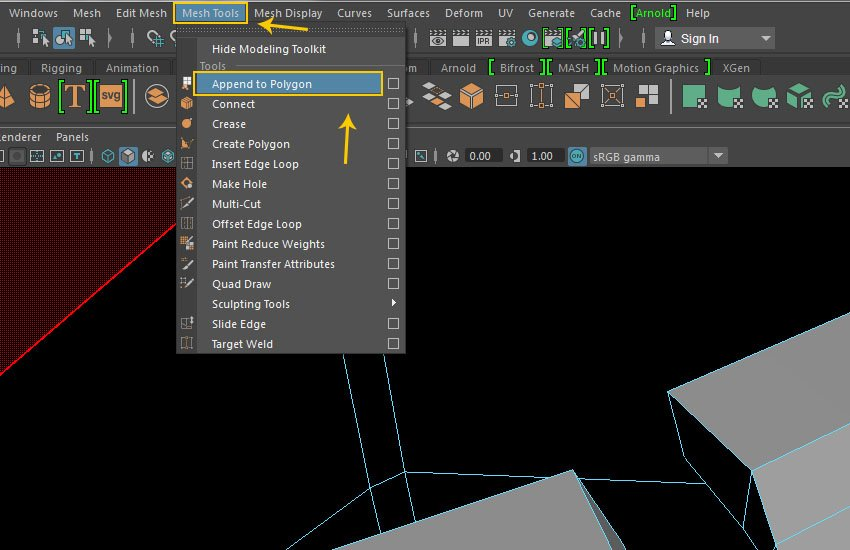 Mesh Tool  Append to Polygon