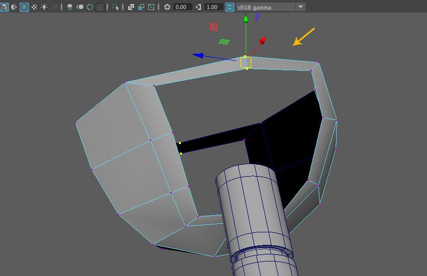 Select and delete the extruded faces
