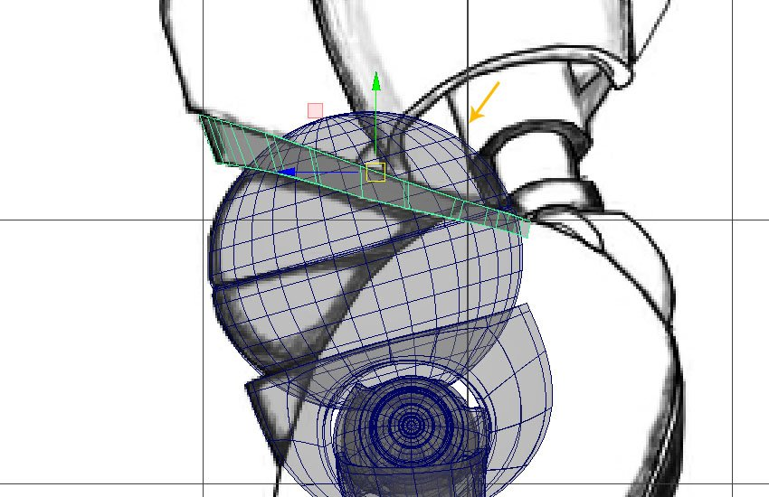 Turn the mesh into X-ray mode