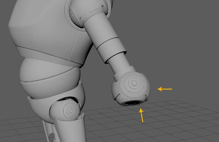 Edit the shape and orientation of the elbow balls