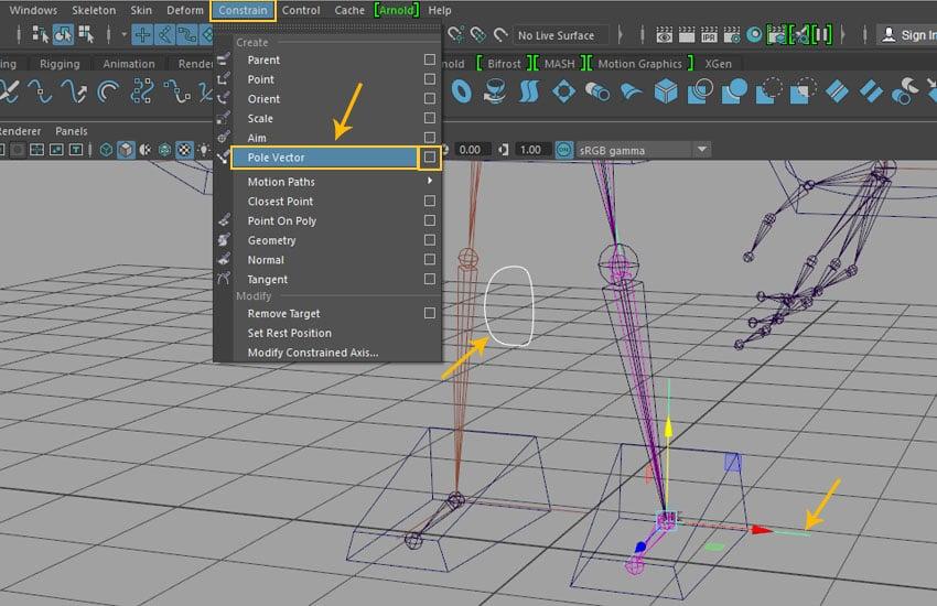 Constrain  Pole Vector command