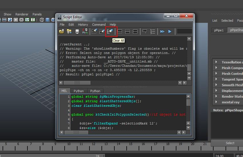 Script Editor window