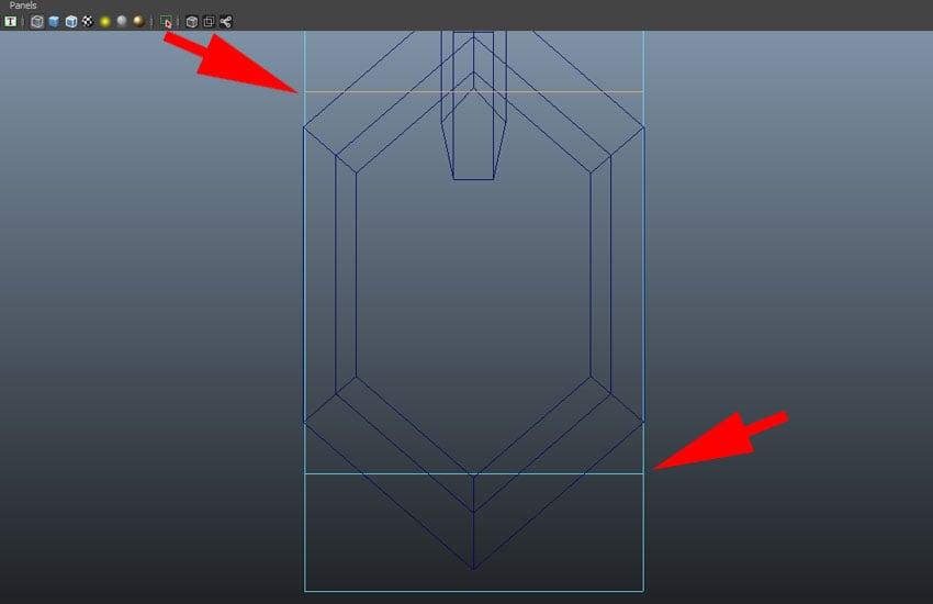 Create two edge loops