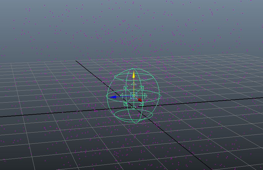 A volumetric spherical particle emitter icon