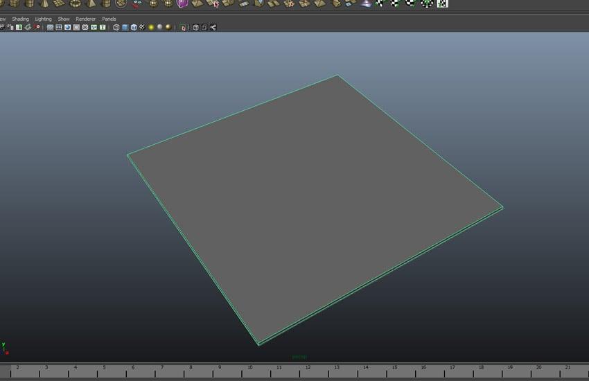 Create a cube polygon mesh