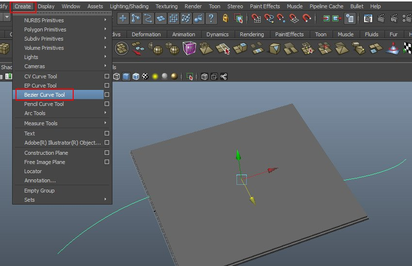Create  Bezier Curve Tool