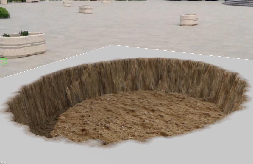 The crater texture
