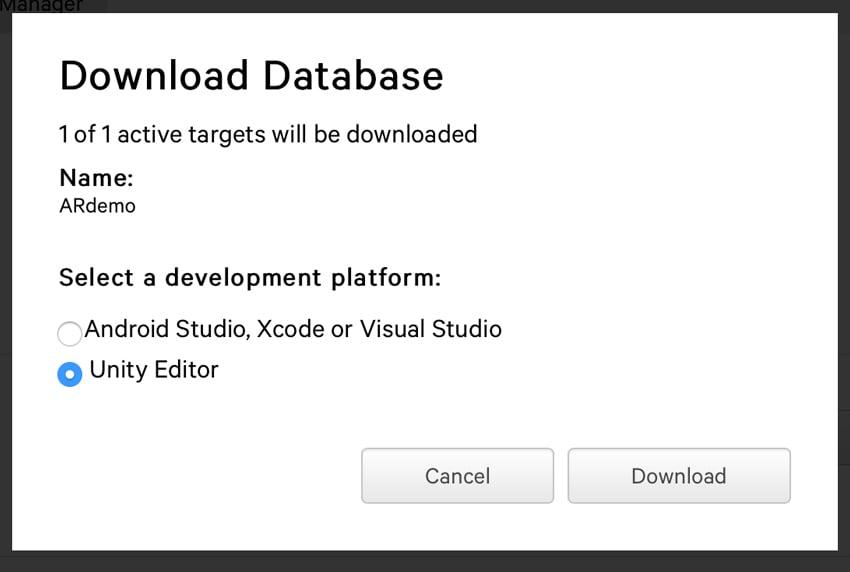 Downloading database